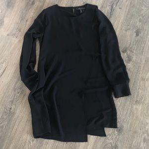 BCBGMaxazria Black Midi Shift Dress - M